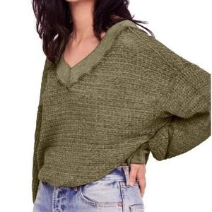 Free People Southside Thermal in Cindered Olive